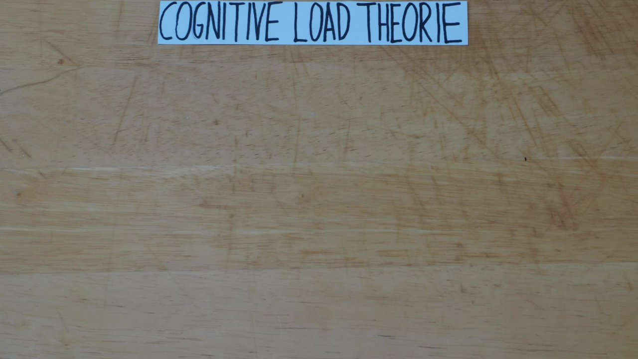 Cognitive Load Theorie