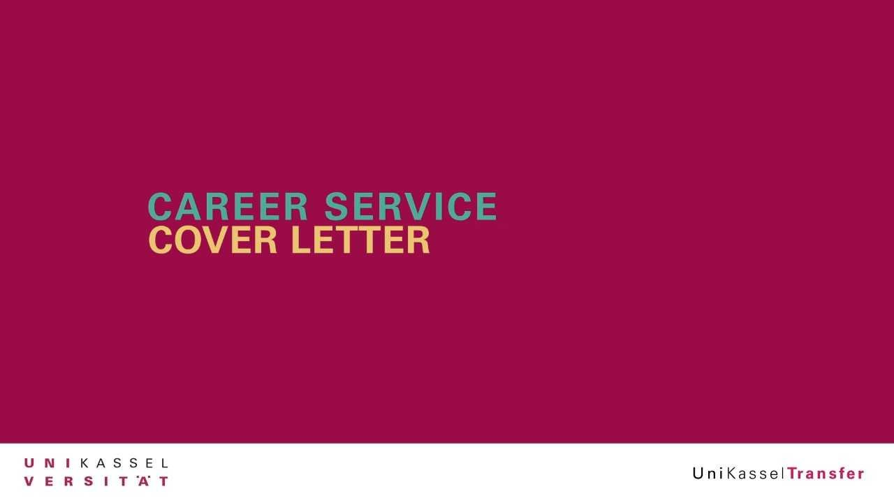 Career Service -  Cover Letter