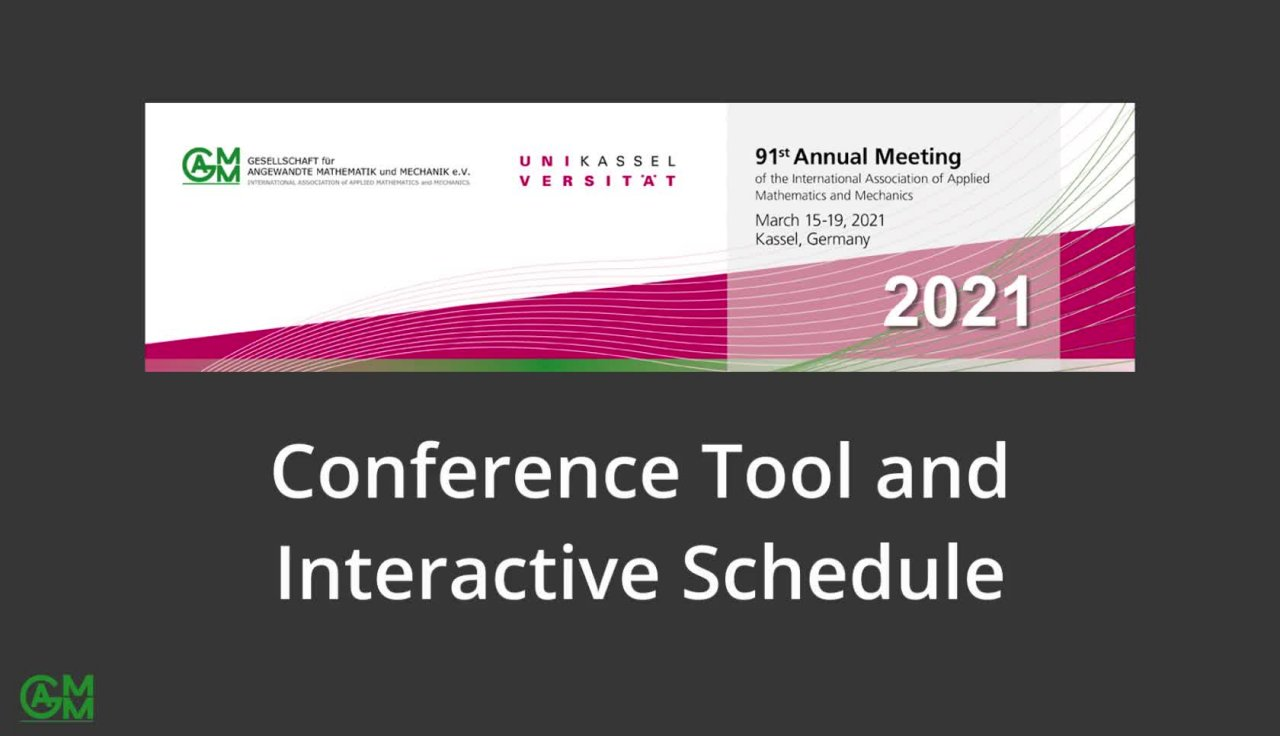 GAMM 2021 Conference Tool