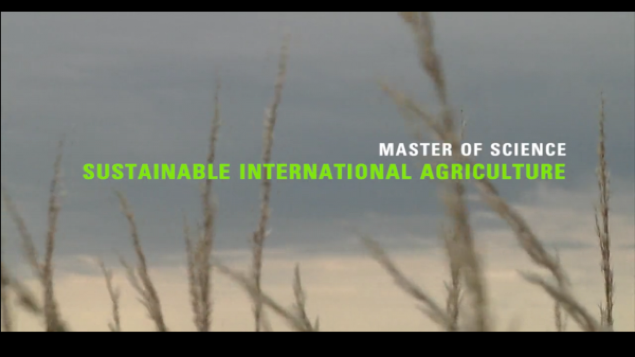 Master Sustainable International Agriculture